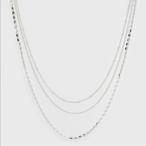 A new day Silver Tone Triple Strand Short Necklace
